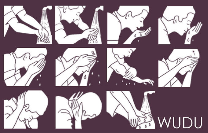 Mustahab or Desirable Acts in wudu, how to do wudu, wuzu